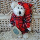 "BOYDS BIANCA BEAR IN RED PLAID PAJAMAS 8"" TALL RETIRED **NEW STORE STOCK**"