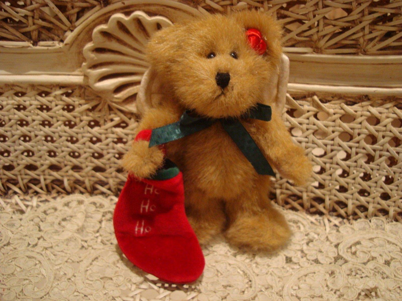 "BOYDS 2001 QVC EXCLUSIVE SOCKSLEY 6"" CHRISTMAS ANGEL BEAR **NEW**"