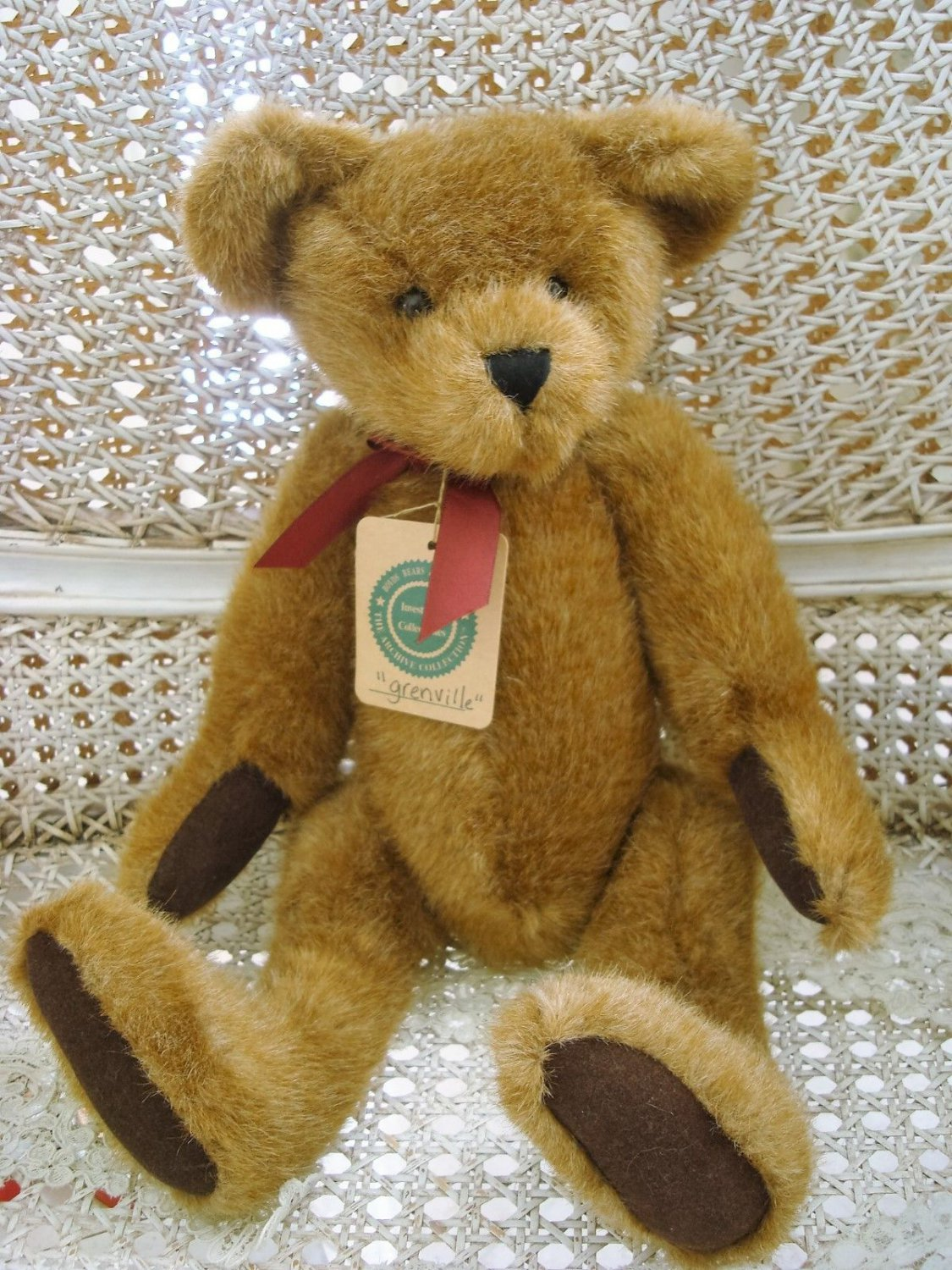 """BOYDS 16"""" GRENVILLE RETIRED ANTIQUE STYLE ARCHIVE BEAR ***NEW STORE STOCK***"""