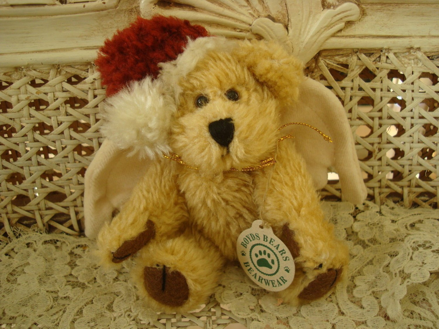 "BOYDS COMET 5 1/2"" TALL ADORABLE CHRISTMAS SANTA ANGEL BEAR ORNAMENT **NEW**"