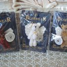 "BOYDS SET OF 3 ADORABLE 2"" TALL WUZZIE ANGEL BEAR PINS RETIRED *NEW STORE STOCK*"