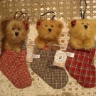 BOYDS QVC 2001 EXCLUSIVE STOCKING ORNAMENTS: MARY LOU, BOBBI JO, & BECKY SUE
