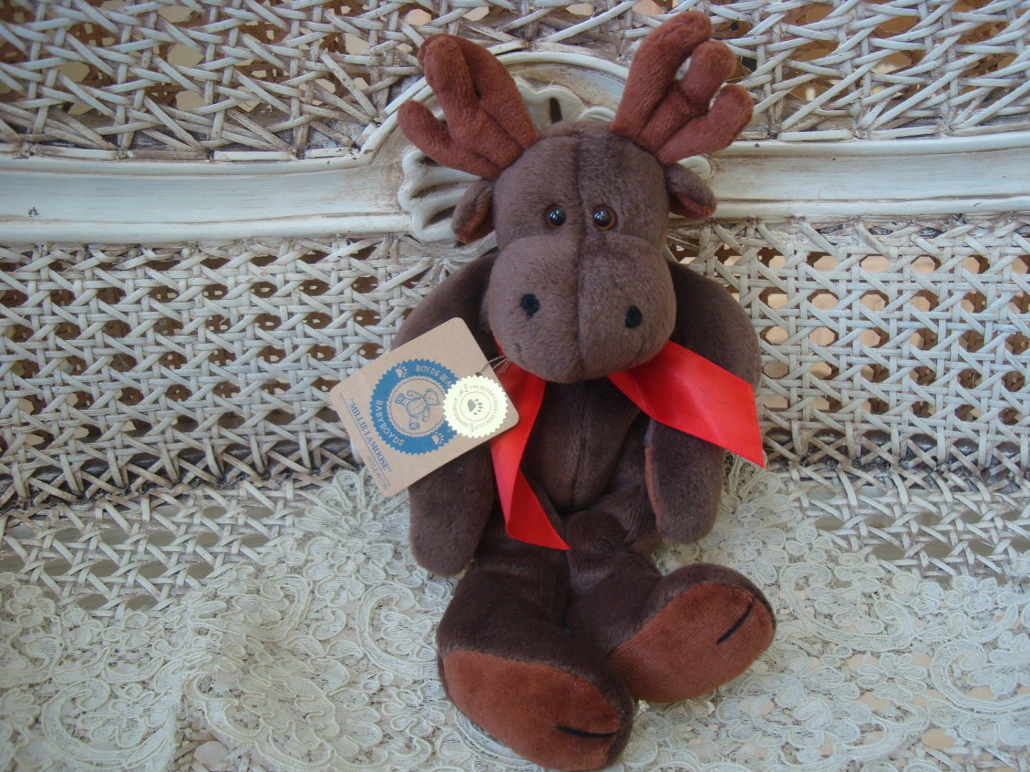 "BOYDS MILLIE LAMOOSE 9"" TALL MOOSE RETIRED  ***NEW STORE STOCK***"