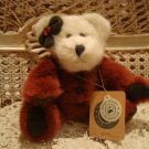 "BOYDS GLYNNIS 8"" RETIRED BURGUNDY BEAR HOLIDAY ***NEW STORE STOCK***"