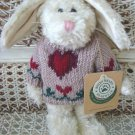 "BOYDS HOPKINS 8"" RETIRED BUNNY WITH HEART SWEATER ***NEW STORE STOCK**"