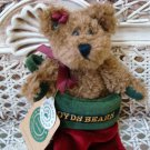 """ADORABLE 6"""" TALL BOYDS BEAR IN CHRISTMAS STOCKING RETIRED **NEW STORE STOCK**"""