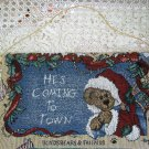 "BOYDS BEARS HE'S COMING TO TOWN CHRISTMAS WALL HANGING 13"" BY 8"" **NEW**"