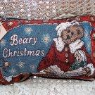 BOYDS BEARS BEARY CHRISTMAS BEAR PILLOW  **NEW STORE STOCK**