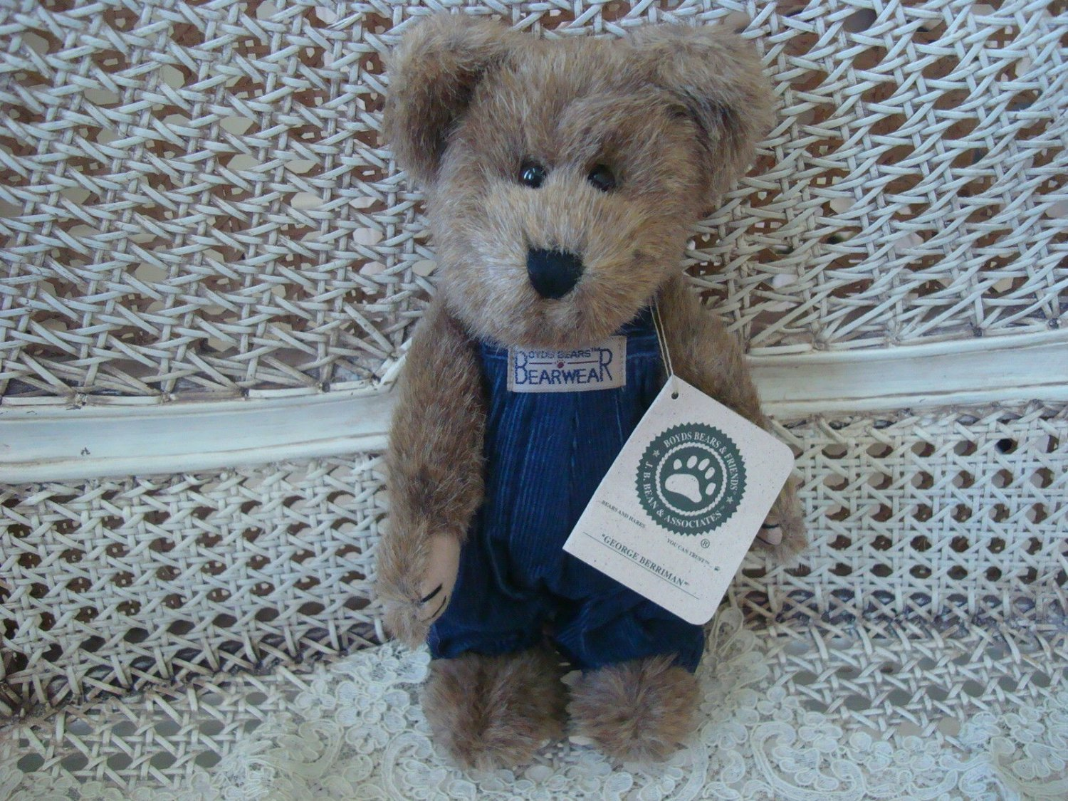"""BOYDS GEORGE 10"""" SHOW EXCLUSIVE BEAR **NEW STORE STOCK**"""