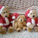 BOYDS SET OF 3 CHRISTMAS SANTA BEARS ***SO CUTE*** NEW NO TAGS