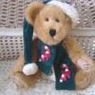"BOYDS BJ BEARRICANE 12"" CHRISTMAS BEAR WITH CANDYCANE SCARF **NEW STORE STOCK***"