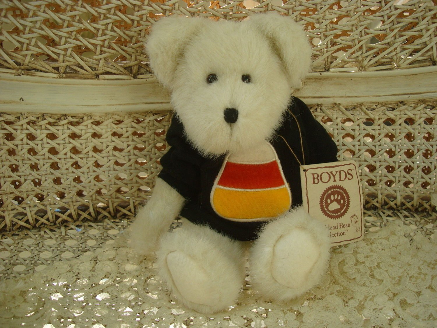 "BOYDS CC BOOBEAR 10"" TALL HALLOWEEN BEAR CANDY CORN SHIRT *NEW STORE STOCK*"