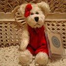 """BOYDS ERIN K. BEAR 8"""" RETIRED BEAR RED VELVET JUMPER CHRISTMAS *NEW STORE STOCK"""