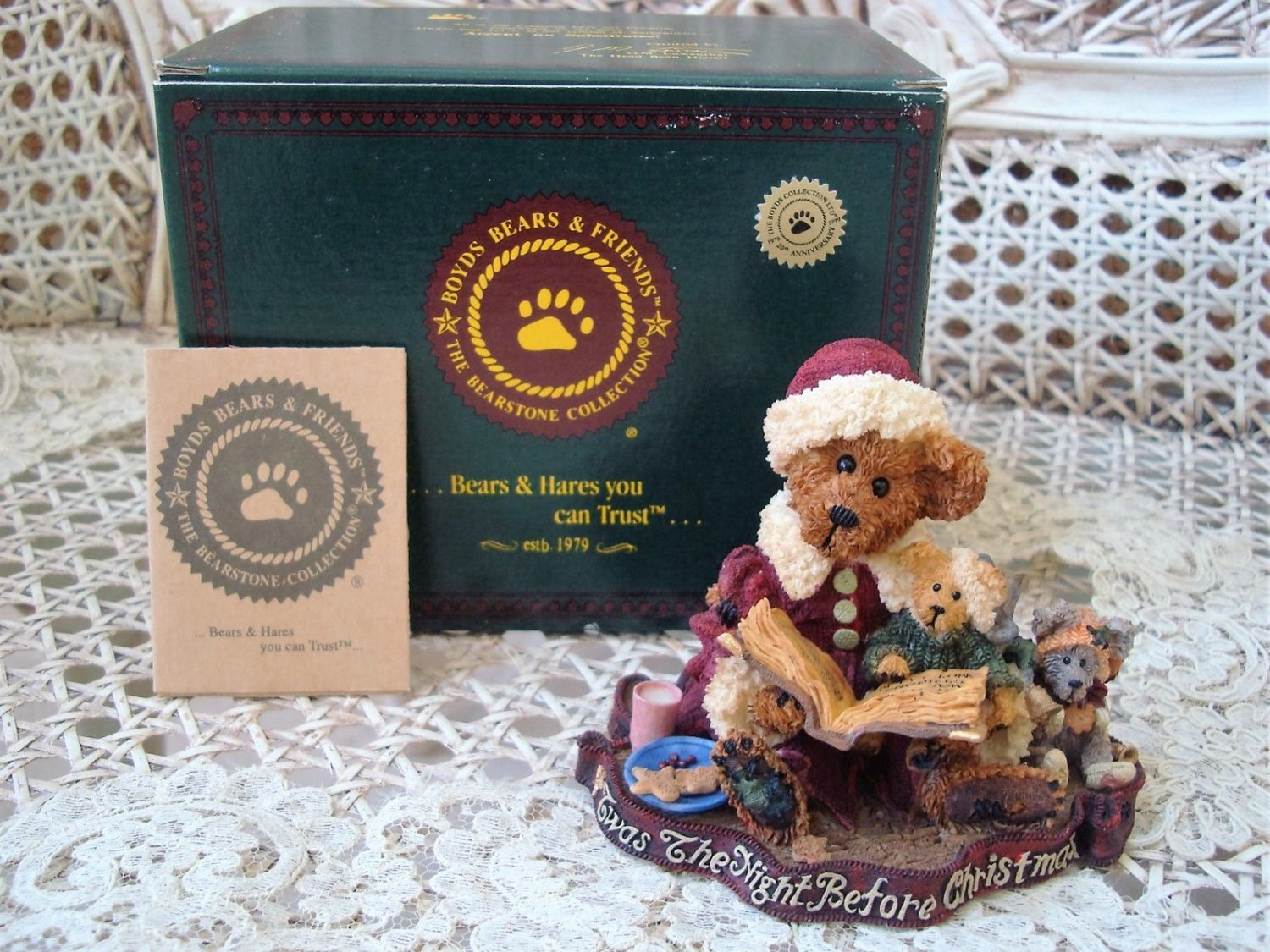 BOYDS ALEXIS BEARINSKY THE NIGHT BEFORE CHRISTMAS BEARSTONE *NEW IN BOX* RETIRED