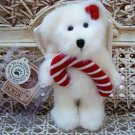 "BOYDS 2001 QVC EXCLUSIVE MINTLEY 6"" TALL CHRISTMAS ANGEL BEAR WITH CANDYCANE"