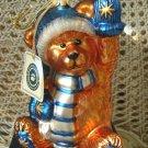 BOYDS KLAUS VON FUZZNER LE HUGE BLOWN GLASS CHRISTMAS ORNAMENT *NEW STORE STOCK*