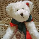"""BOYDS QVC EXCLUSIVE HOLLY 14"""" TALL WHITE CHRISTMAS BEAR ***BEAUTIFUL***"""