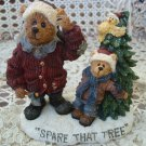 BOYDS  SPARE THAT TREE CHRISTMAS HOLIDAY BEARSTONE  *NEW IN BOX* RETIRED