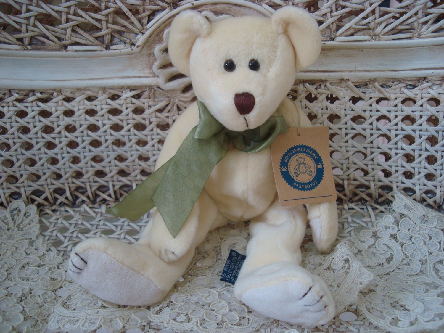 """BOYDS DILLY MCDOODLE 9"""" TALL BABY BOYDS PALE YELLOW BEAR **NEW STORE STOCK**"""