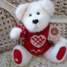 "BOYDS BASHFUL T BEARHUGS 10"" TALL VALENTINE BEAR RETIRED  ***NEW STORE STOCK**"