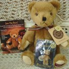 BOYDS 20TH ANNIVERSARY MATTHEW WITH WUZZIE & POSTCARD SET **NEW STORE STOCK***