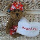 ADORABLE BEACH BOY OUTFIT WITH TOWEL FOR BOYD'S BEARS ****SO CUTE****