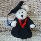 ADORABLE GRADUATION OUTFIT WITH RED TRIM FOR BOYD'S BEARS ****SO CUTE****