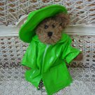ADORABLE GREEN RAINCOAT OUTFIT FOR BOYD'S BEARS ****SO CUTE****