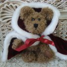 ADORABLE BURGUNDY ROYAL KING'S CAPE OUTFIT FOR BOYD'S BEARS ****SO CUTE****