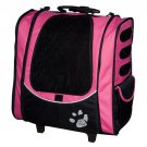 Pet Gear I-GO2 Escort Pet Carrier Pink Rolling Carrier Backpack Tote