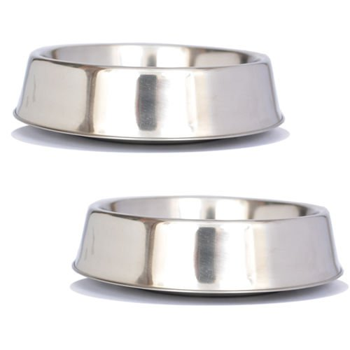 Iconic Pet 2 Pack Anti Ant Stainless Steel Non Skid Pet Bowl  - 24oz - 3 cup