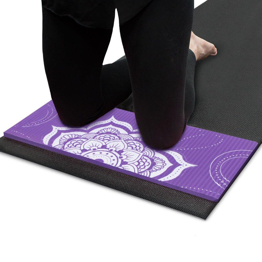 Crown Sporting Goods Chakra Art Yoga Knee Pad Lilac