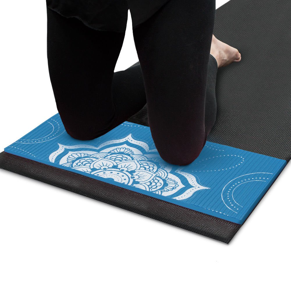 Crown Sporting Goods Chakra Art Yoga Knee Pad Waterfall