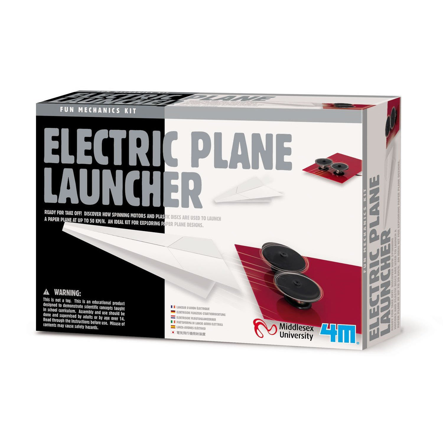 Wild Planet Electric Plane Launcher With Storage Bag 14 and Up