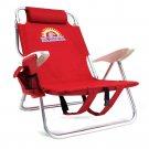 Beach Gear 4 Position Folding Beach Chair Red