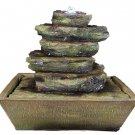 Cascading Rocks Tabletop Fountain LED Lights by Sunnydaze Decor