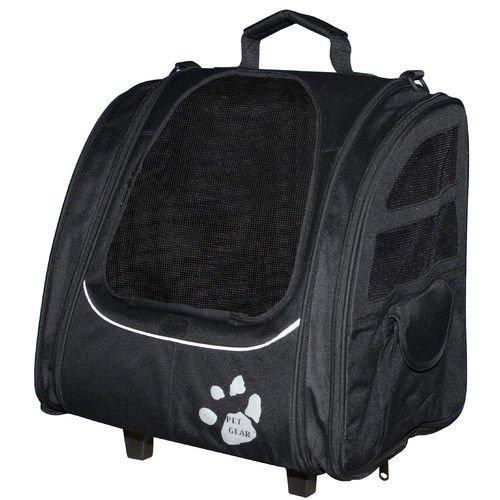 Pet Gear I-GO2 Traveler Pet Carrier Blue Carrier Backpack Car Seat Rolling Bag