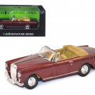 1961 Bentley Continental S2 Park Ward DHC Convertible Burgundy 1/43 Diecast Car