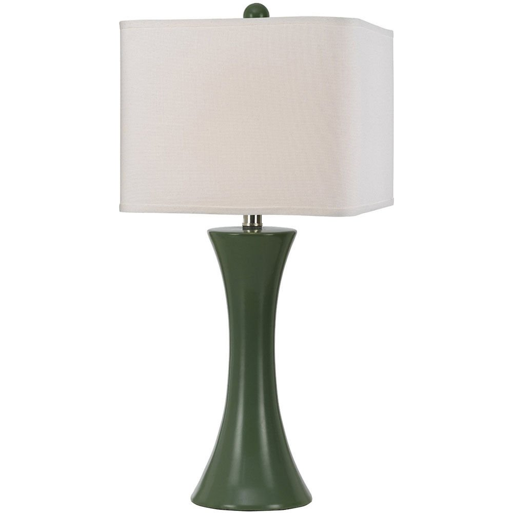 "AF Lighting Green Madison Ceramic Table Lamp 60W Standard Bulb 26""H X 12""W"