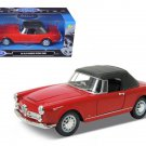 1960 Alfa Romeo Spider 2600 Soft Top Red 1/24 Diecast Car Model by Welly