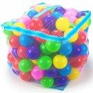 "Imagination Generation 200 Jumbo 3"" Multi-Colored Soft Ball Pit Balls Mesh Case"