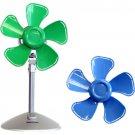 """Keystone KSTFF100ABN Blue/Green 10"""" Flower Fan Interchangeable Heads"""