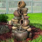 Honey Pot with Stones Outdoor Fountain LED Lights by Sunnydaze Decor