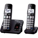 Panasonic KX-TGE232B Black Expand Digital Cordless Answering System 2 Handsets