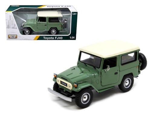 Toyota FJ40 Medium Green 1/24 Diecast Model Car by Motormax