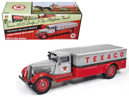 """1935 Dodge 3-Ton Platform Truck """"Texaco"""" Series #33 Special Edition Brushed"""