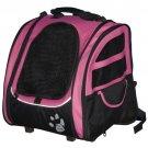 Pet Gear I-GO2 Traveler Pet Carrier Pink Backpack Carrier Car Seat Roller Bag