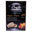 Bradley Technologies Smoker Bisquettes Maple 48 Pack Clean Smoke Flavor