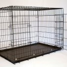 Iconic Pet 30in Foldable Double Door Pet Dog Cat Training Crate with Divider