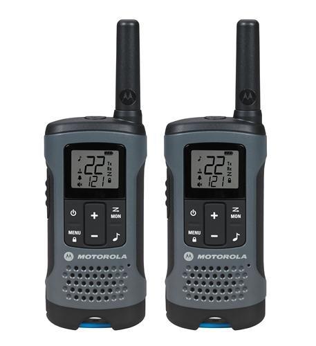 Motorola T200 Gray Rechargeable 2 Pack FRS 20 Mile Range Radios Keypad Lock